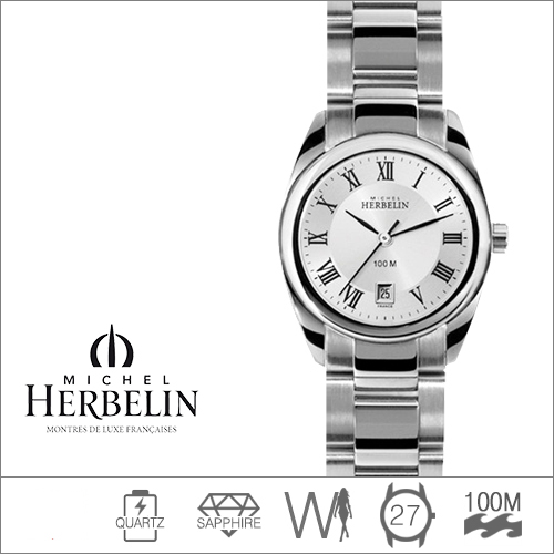 12828/B01 MICHEL HERBELIN (쿼츠/27mm) [판매처 A/S보증]