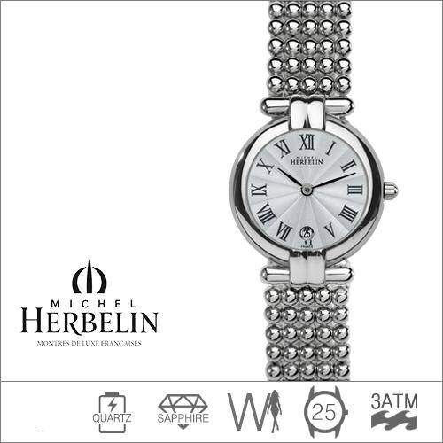 16873/B08 MICHEL HERBELIN (쿼츠/25mm) [판매처 A/S보증]