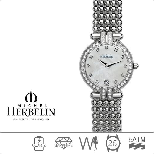 16873/44XB59 MICHEL HERBELIN (쿼츠/25mm) [판매처 A/S보증]