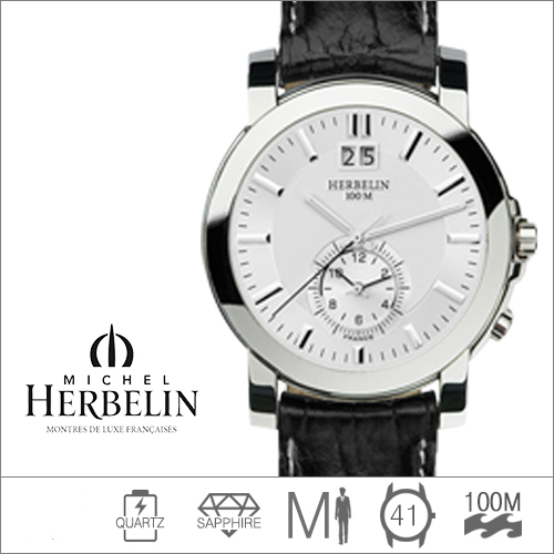 18480/11 MICHEL HERBELIN (쿼츠/41mm) [판매처 A/S보증]