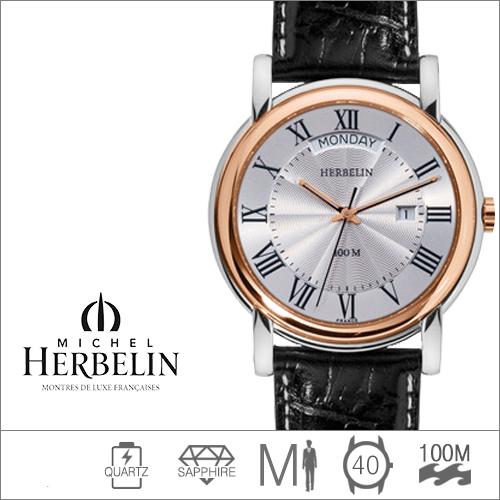 18643/TR01 MICHEL HERBELIN (쿼츠/40mm) [판매처 A/S보증]