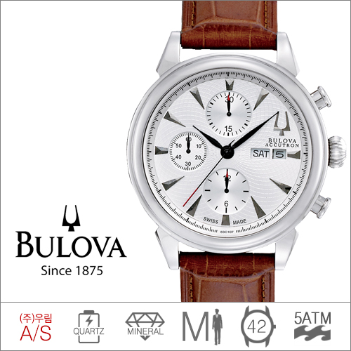 63C107 BULOVA (쿼츠/42mm) [판매처 A/S보증]
