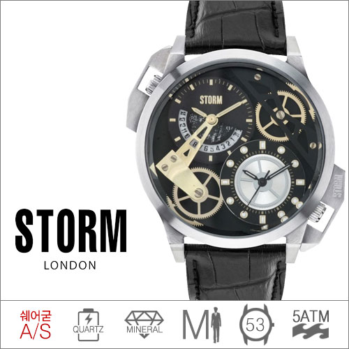 DUALON BLACK LEATHER STORM (쿼츠/53mm) [판매처 A/S보증]