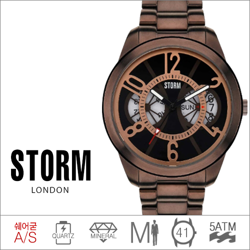 ZENDRON BROWN STORM (쿼츠/41mm) [판매처 A/S보증]