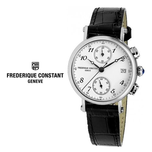 FC-291A2R6 [백화점AS/당일발송] 스타일리더 본사정품 MADE IN SWISS {FREDERIQUE CONSTANT 프레드릭콘스탄트} Classic Chronograph 클래식 3ATM 생활방수 (쿼츠:34mm)