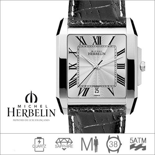 12282/08 MICHEL HERBELIN (쿼츠/38mm) [판매처 A/S보증]