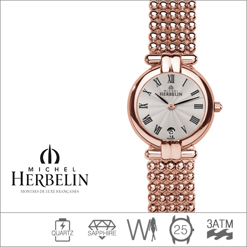 16873/BPR08 MICHEL HERBELIN (쿼츠/25mm) [판매처 A/S보증]