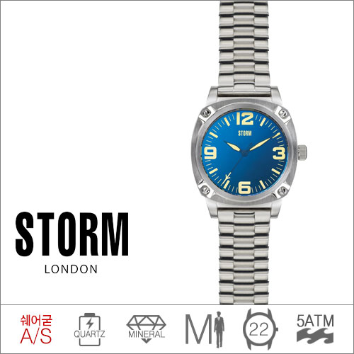 FEDERAL LAZER BLUE STORM (쿼츠/22mm) [판매처 A/S보증]