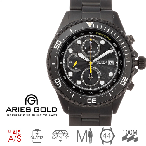 G 726A BKY-BLACK  ARIES GOLD (쿼츠/44mm) [전국 백화점 A/S보증]