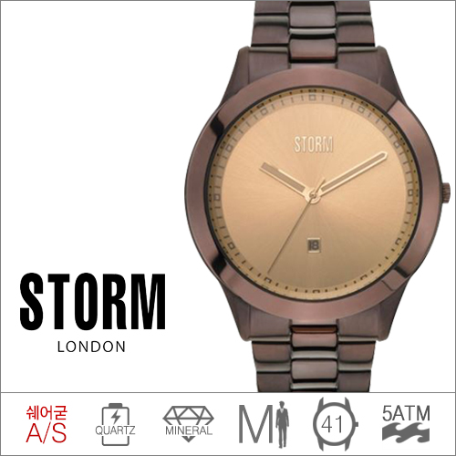 MISK XL BROWN STORM (쿼츠/41mm) [판매처 A/S보증]