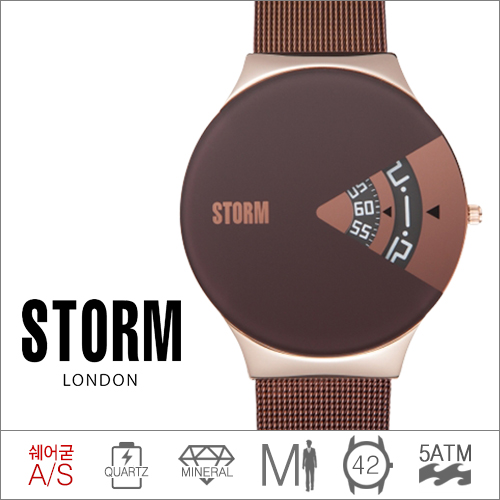 REMEX ROSE GOLD BROWN STORM (쿼츠/42mm) [판매처 A/S보증]