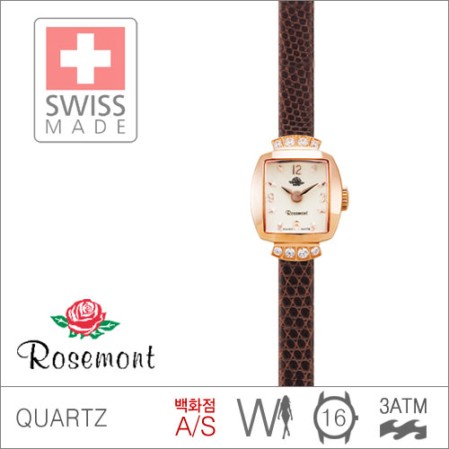 RS#16-05BR [백화점AS/당일발송] 불가리바디로션사은품 우림FMG본사정품 MADE IN SWISS {ROSEMONT 로즈몽} RS16-05BR ANTIQUE TOUCH ROSE 앤티크 3ATM 생활방수 (쿼츠:16mm)